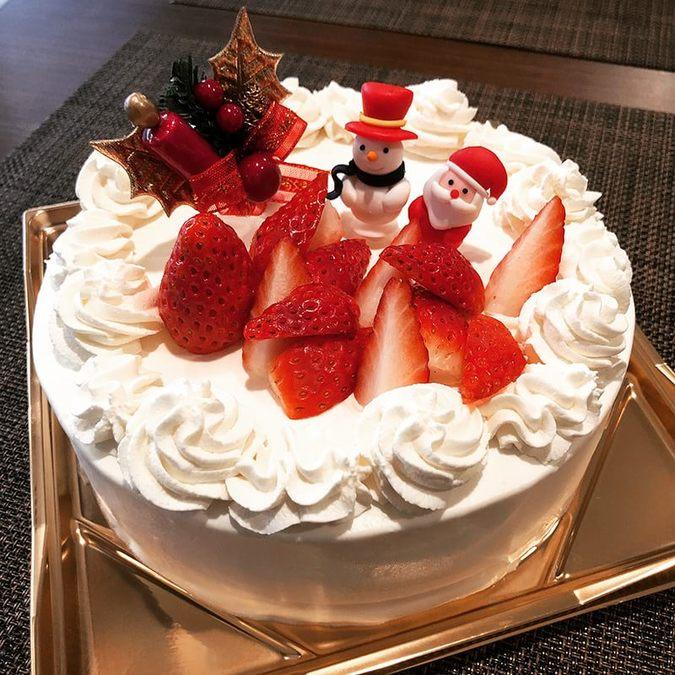 苺をたっぷり使ったショートケーキ
