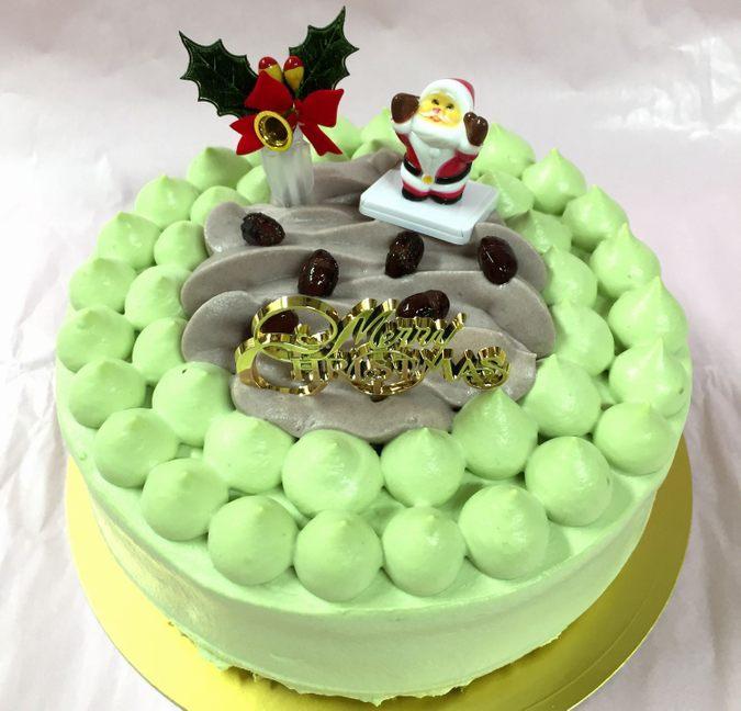 抹茶とあずきのクリスマスケーキ