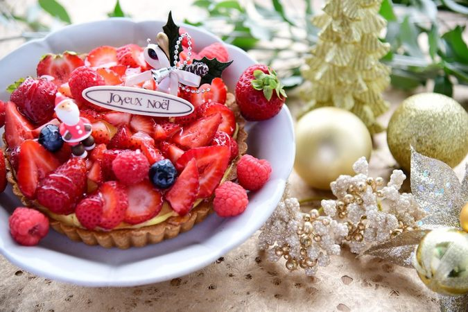 苺のクリスマスタルト