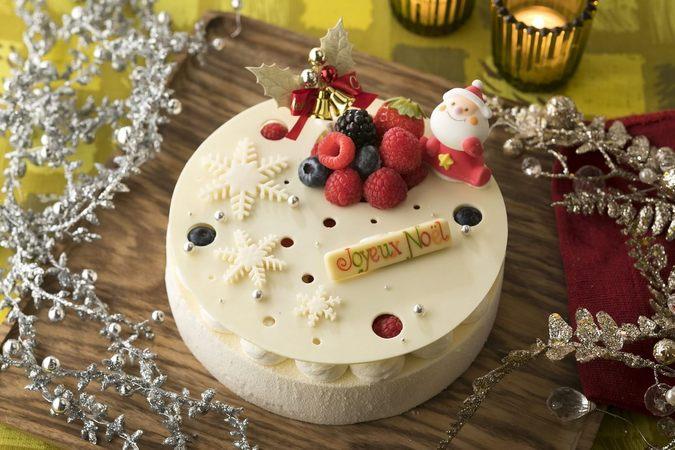 クリスマスホワイトチーズケーキ
