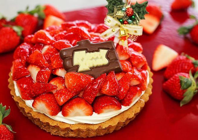 苺のタルト クリスマススタイル