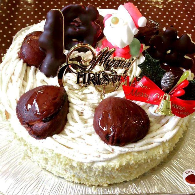 モンブラン クリスマスケーキ