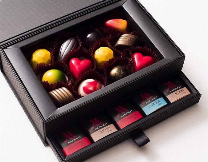 ≪バレンタイン限定≫ブリリアントショコラ ボンボン6種12個、キャレチョコレート3種15枚セット