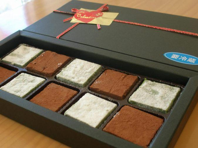 ≪バレンタイン限定≫ショコラギフト(生チョコと抹茶生チョコ) 10個入り