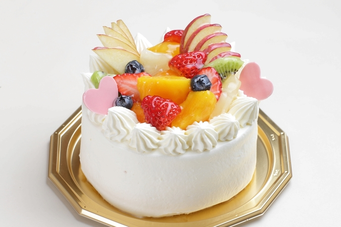 フルーツデコレーションケーキ(チョコ)