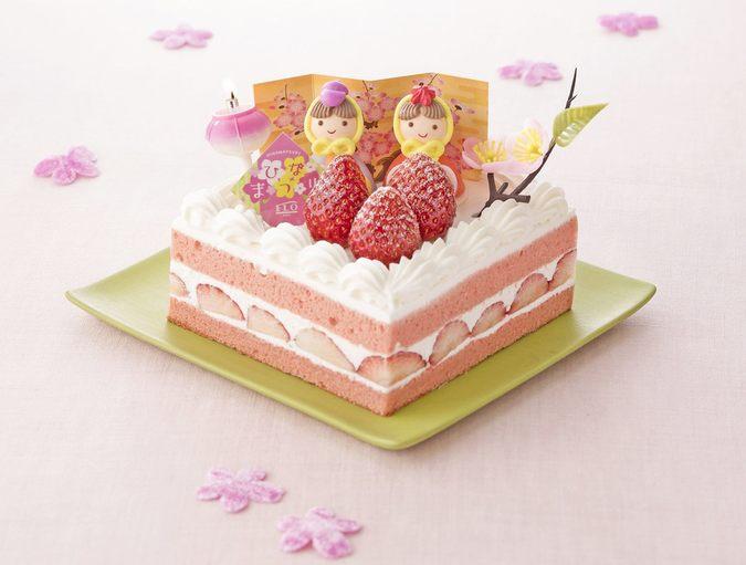 ≪ひな祭り限定≫苺のひなまつりショートケーキ 12cm×12cm