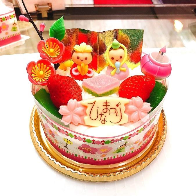 ≪ひな祭り限定≫ひな祭りケーキ 4号