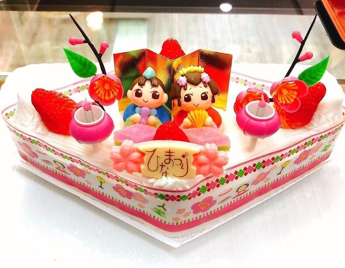 ≪ひな祭り限定≫ひな祭りケーキ(ひし形) 6号