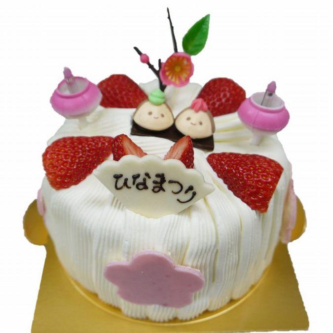 ≪ひな祭り限定≫ももひなシフォン(苺・キャラメル・ココア・抹茶)デコレーションケーキ