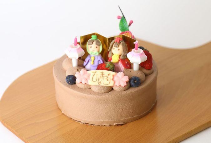 ≪ひな祭り限定≫ひなまつり生チョコバナナケーキ