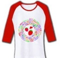 売れたよ★イチゴの品種(日本語) 七分袖リブラグランTシャツ in clubT