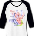 売れたよ★心臓の図(医療)英語 七分袖リブラグランTシャツ in clubT