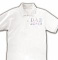 売れたよ★DAD LOVER ポロシャツ(ホワイト) in clubT