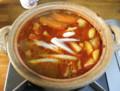 朝のトマト鍋