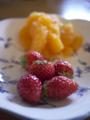 苺と伊予柑