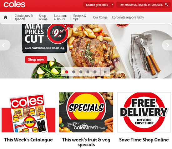 Coles公式ホームページ