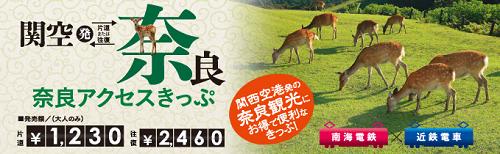 南海×近鉄電車-奈良アクセスきっぷ