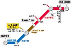 京都アクセスきっぷMAP