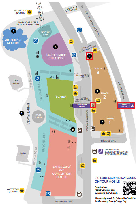 Marina Bay Sands Map02