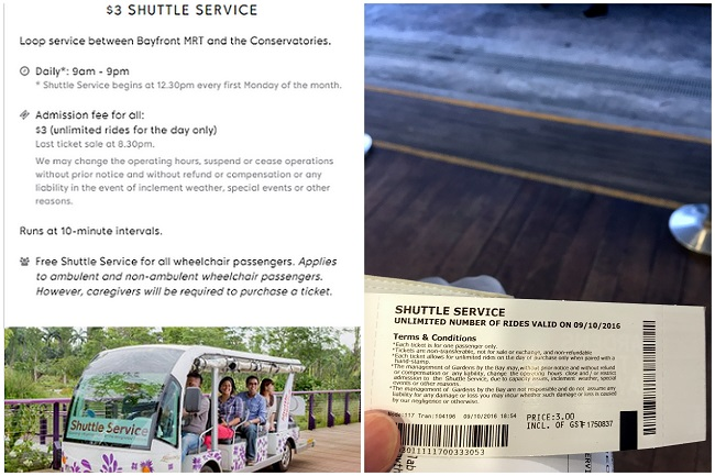 Gardens By The Bay Shuttle Bus swrvice 01