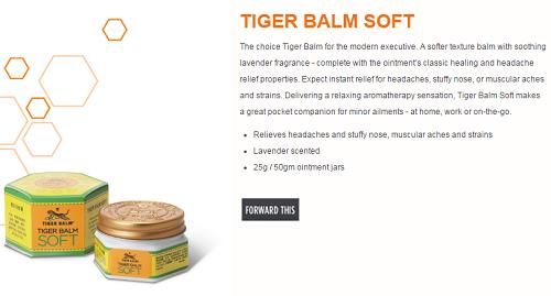 Tiger Balm Soft lavender