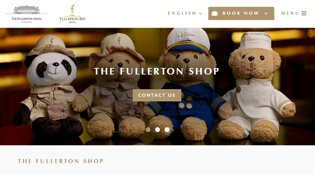 The Fullerton Hotel Gift Shop Singapore