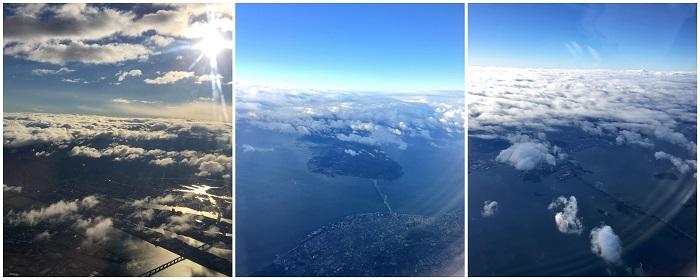 空から見た明石海峡大橋と瀬戸大橋oita