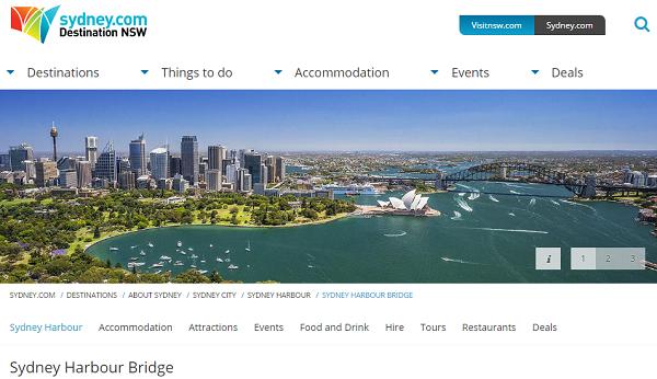 Sydney Harbour Bridge オーストラリア、シドニーの観光局 公式ホームページ