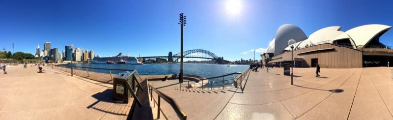 オーストラリア シドニー サーキュラー・キーから撮影したオペラハウス パノラマ・ビュー
