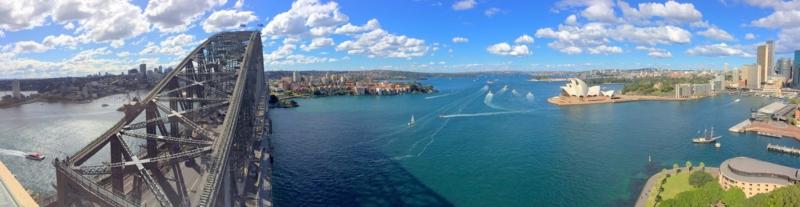オーストラリア シドニー パイロン・ルックアウトからの眺め ハーバーブリッジとオペラハウス パノラマビュー