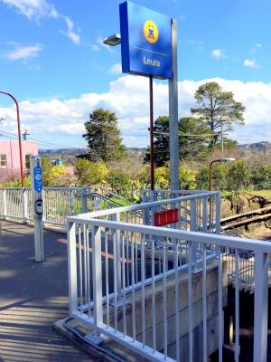 オーストラリアNSW ルーラ駅のOpal読み取り機