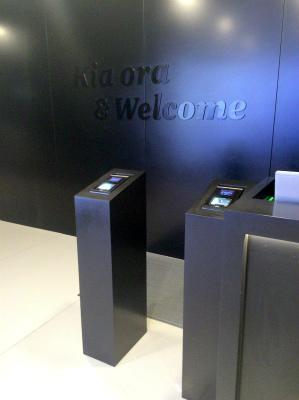 オーストラリア シドニー空港 ニュージーランド・エア ANAビジネスクラス ラウンジ Kia ora & welcome