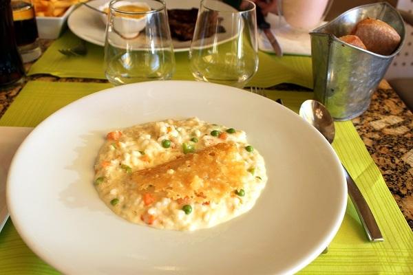 パリ オルセー美術館レストラン メインプレート リコッタチーズのリゾット クリスピーパルメザン