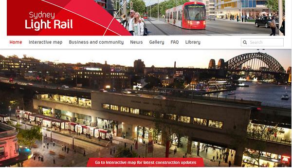 LightRail オーストラリア シドニー ライト・レール 公式ホームページ
