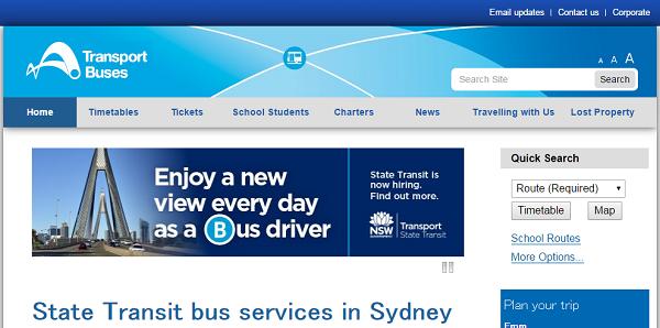 SydneyBusオーストラリア シドニー・バス公式ホームページ