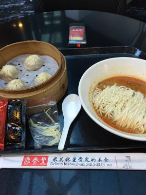 ディンタイフォンの担担麺と小籠包