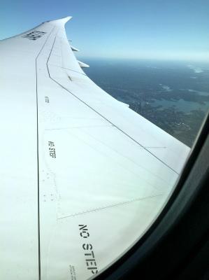 ANA 前全日空 羽田 シドニー便 NH879便 窓から見える景色2