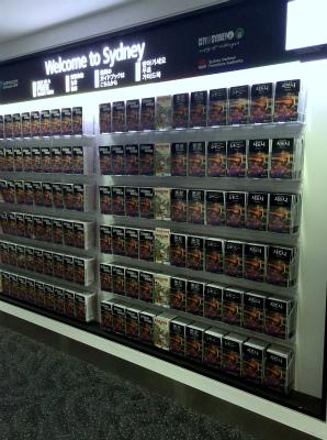 シドニー空港到着 国際ターミナル内 シドニー 公式ガイドブックの棚
