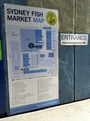 オーストラリア シドニー フィッシュマーケット MAP