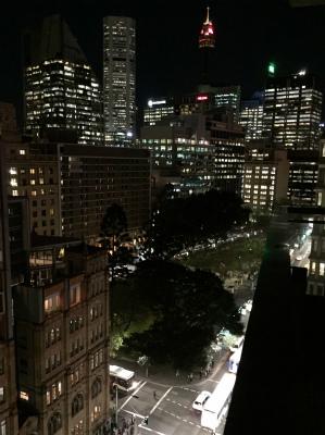 オーストラリア シドニー スイス・ベルホテルからの夜景