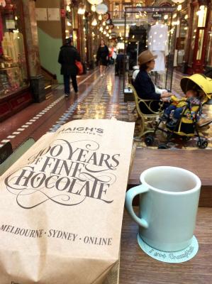 オーストラリア シドニー ストランド・アーケード内 コーヒータイム カフェで一息