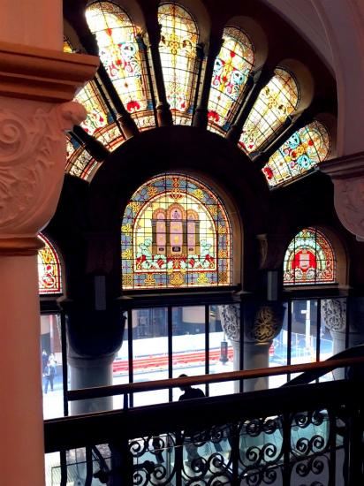 QVB クイーン・ビクトリア・ビルディング The Queen Victoria Building 美しいステンドグラス