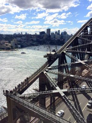オーストラリア シドニー パイロン展望台 パイロンルックアウトから見えるハーバーブリッジ ブリッジ・クライム