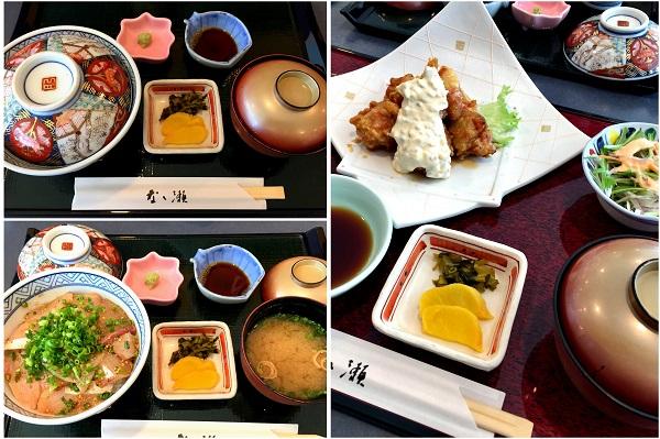 大分空港レストランなな瀬りゅうきゅう丼、とり天Desktop