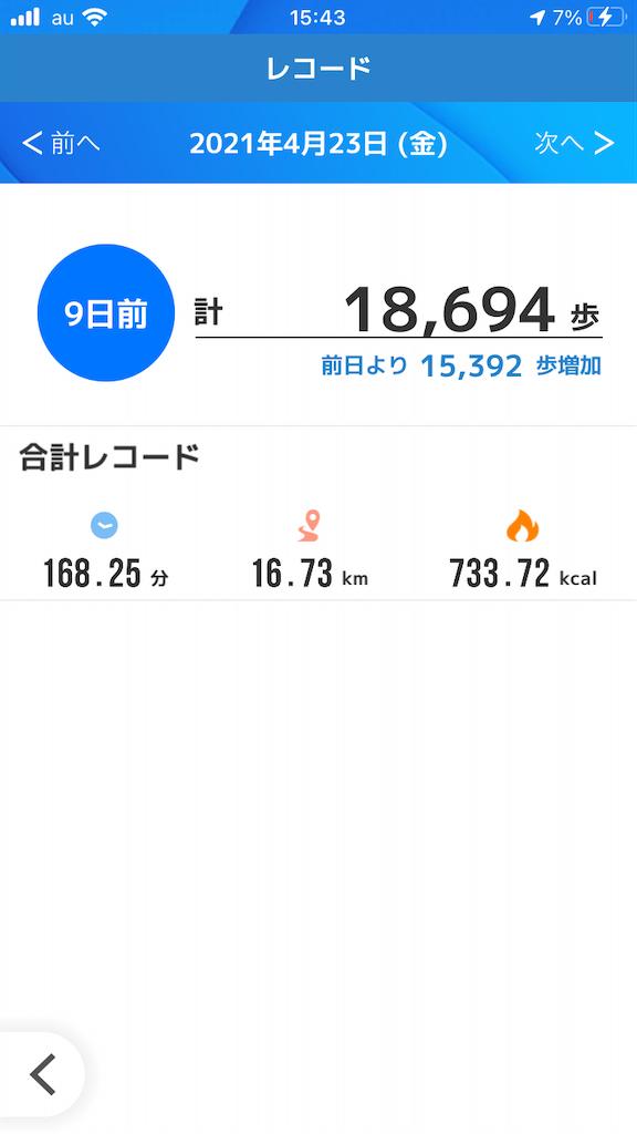 アプリspobyのレコード管理画面
