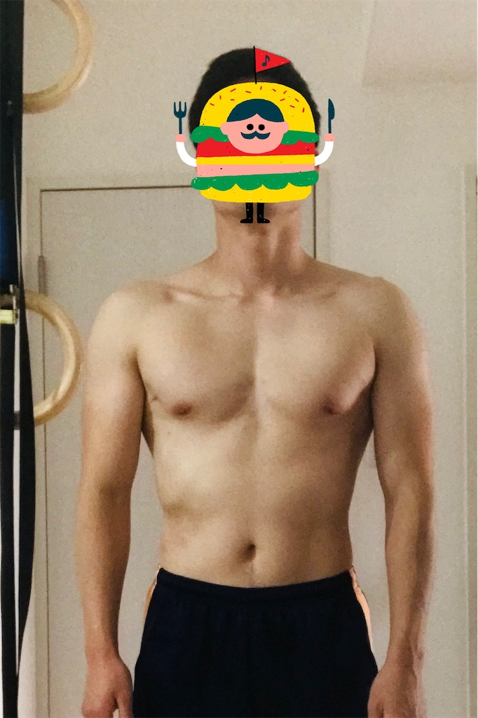 2021年5月7日の体の写真前面