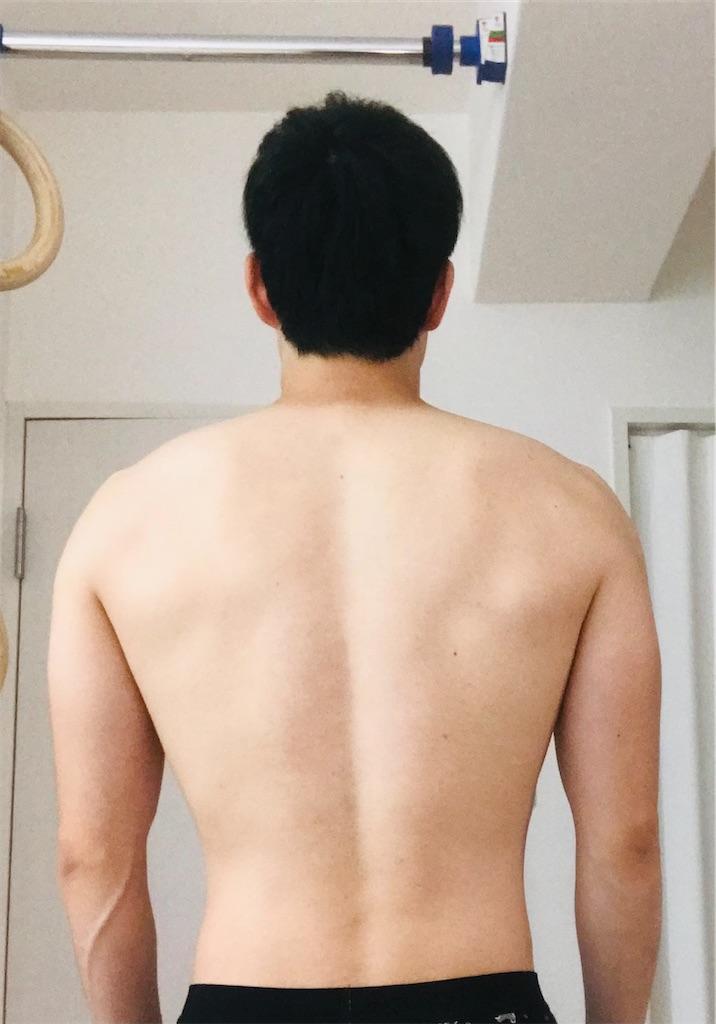 2021年5月17日の体の写真背面