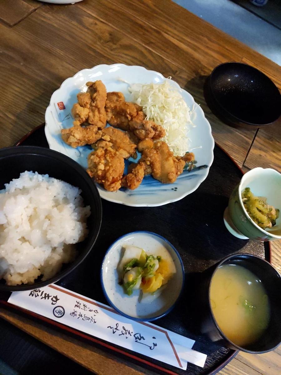 カラアゲ定食の写真