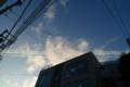 [散歩]ブルーインパルスの飛行機雲(第58回防大開校祭)