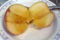 [菓子]レンジで簡単、焼きりんご